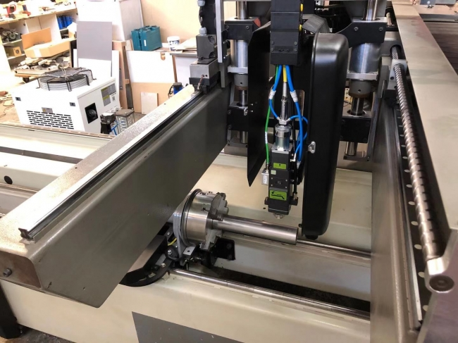 澳大利亚客户做的光纤激光切管机