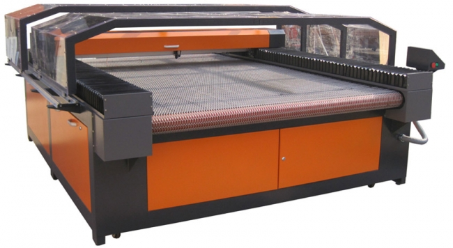 large scale auto feeding co2 laser cutting machine for leather and cloth