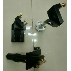 laser head and mirror mounts
