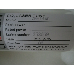 EFR CO2 LASER TUBE 1200CL 1600CL F2 F4 F6 F8 F10 ZN-1250 ZN-1450 ZN-1650 ZN-1850