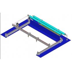 line square rails laser cutting machine parts